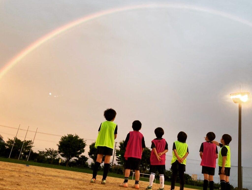 虹の下でのトレーニング